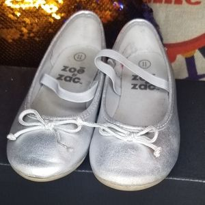 zoe & zac Shoes - 3/$20❤ silver flats with strap size 11